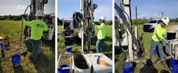 Environmental Drilling Services – Collection of groundwater samples from various locations. Depths varying from 10 feet to 55 feet bls via DPT methods.